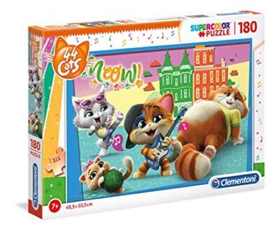 Clementoni Supercolor Puzzle 44 Gatti 180 Pezzi Multicolore 29763 0
