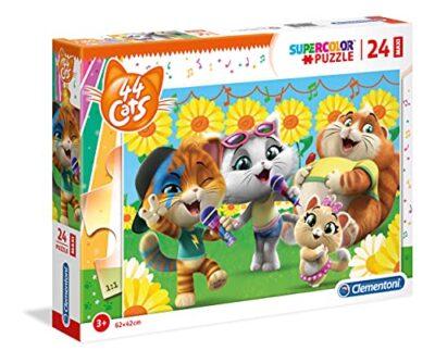 Clementoni Supercolor Puzzle 44 Gatti 24 Maxi Pezzi Multicolore 28500 0