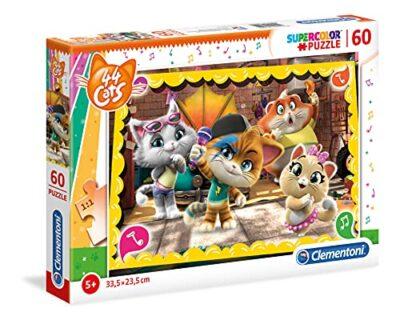 Clementoni Supercolor Puzzle 44 Gatti 60 Pezzi Multicolore 26052 0