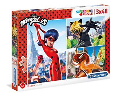 Clementoni Supercolor Puzzle Miraculous 3 X 48 Pezzi Multicolore 25234 0