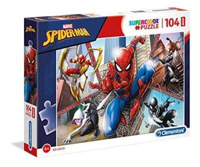Clementoni Supercolor Puzzle Spider Man 104 Pezzi Maxi Multicolore 23734 0