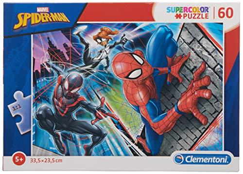 Clementoni Supercolor Puzzle Spider Man 60 Pezzi Multicolore 26048 0