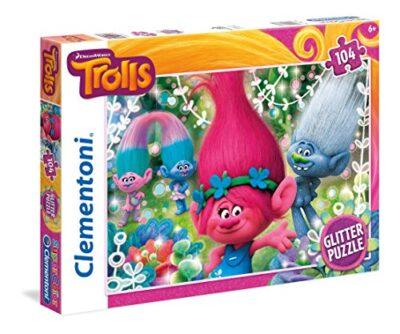 Clementoni Trolls Glitter Puzzle 104 Pezzi 27249 0