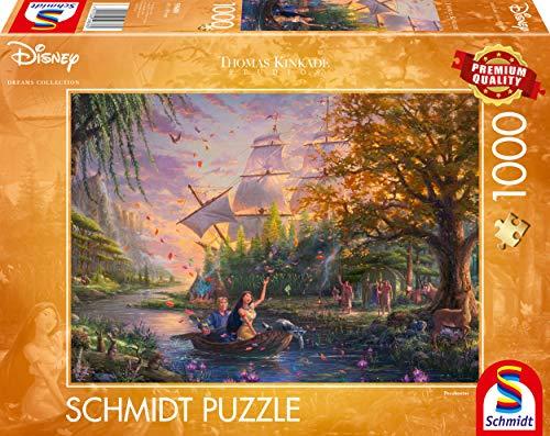 Disney Pocahontas Puzzle 1000 Teile Erwachsenenpuzzle Thomas Kinkade Collection 0