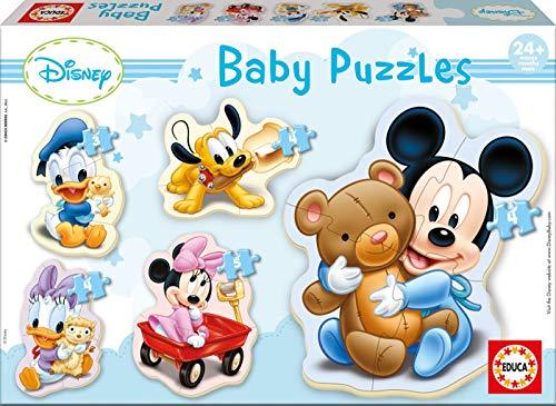 Educa 13813 Disney Baby Puzzles Topolino Mickey Mouse Set Di 5 Puzzle Progressivi Di 3 4 E 5 Pezzi Per Bambini 24 Mesi Colore Vario 0