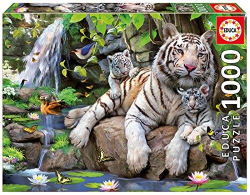 Educa 14808 Puzzles Tigri Bianche Del Bengala Puzzle Per Adulti 1000 Pezzi Rif Colore Vario 0