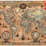 Educa 15159 Puzzles Mappa Antica Del Mondo Puzzle Per Adulti 1000 Pezzi Rif Colore Vario 0