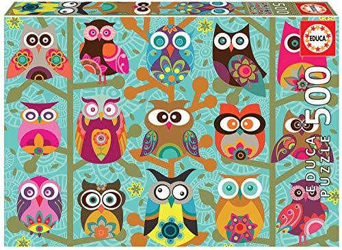 Educa 19006 Puzzles Gufi Puzzle 500 Pezzi Rif Multicolore 0