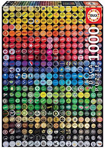 Educa 19026 Puzzles Collage Di Tappi Di Soda Puzzle 1000 Pezzi Rif Multicolore 0