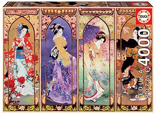 Educa 19055 Puzzles Collage Giapponese Puzzle 4000 Pezzi Rif Multicolore 0