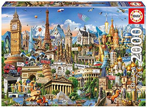 Educa 2000 Europe Landmarks Puzzle Colore Vario 17697 0