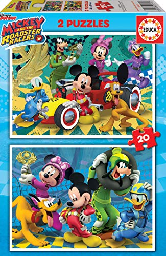 Educa 2x20 And The Roadster Racers Mickey Top Depart Puzzle Colore Vario 17631 0