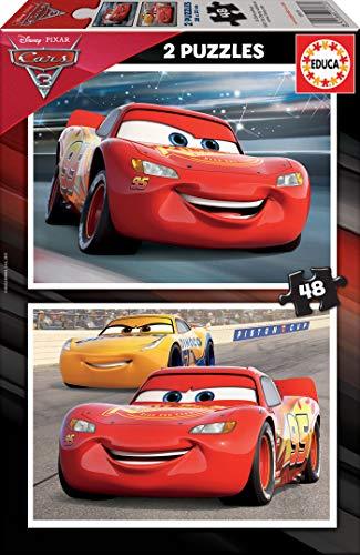 Educa 2x48 3 Cars Puzzle Colore Vario 17177 0