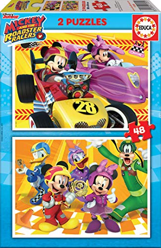 Educa 2x48 And The Roadster Racers Mickey Mouse Puzzle Colore Vario 17239 0