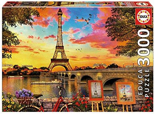Educa 3000 Sunset In Paris Puzzle Colore Vario 17675 0