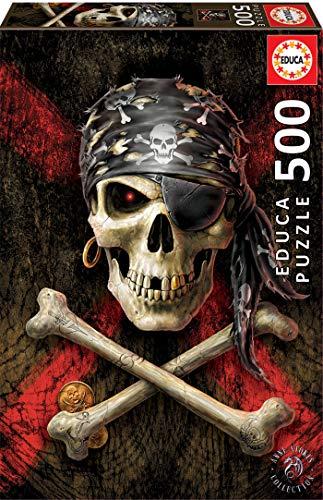Educa 500 Teschio Pirata Puzzle Multicolore 17964 0