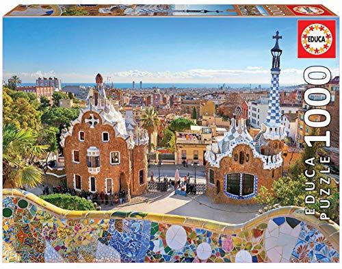 Educa Borras Educa Veduta Di Barcellona Dal Park Guell Puzzle Per Adulti 1000 Pezzi Rif 17966 Multicolore 0