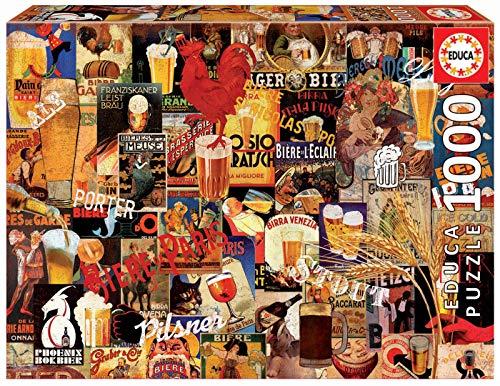 Educa Collage Birra Puzzle Per Adulti 1000 Pezzi Rif 17970 Multicolore 0