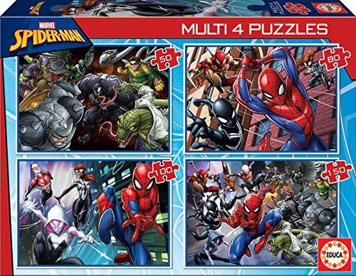 Educa Multi 4 Puzzles Junior Ultimate Spider Man Hombre Arana Marvel Puzzle Colore Vario 18102 0