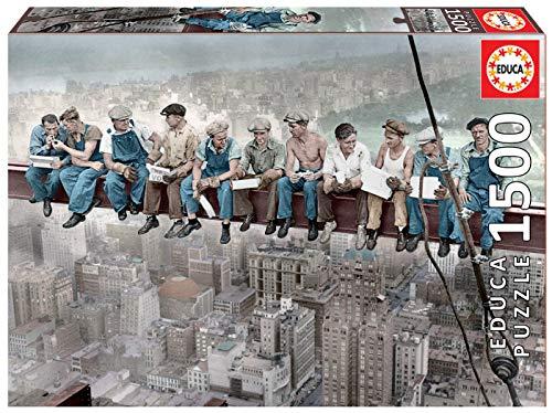 Educa Pranzo In Cima Al Grattacielo Ny Puzzles Uomini Sulla Trave Collazione In Cielo New York Puzzle Per Adulti 1500 Pezzi Rif 16009 Colore Various 0