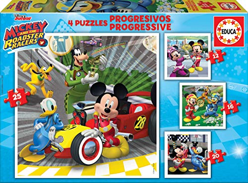 Educa Progressive Puzzles Mickey And The Roadster Racers 12162025 Top Depart Puzzle Colore Vario 17629 0