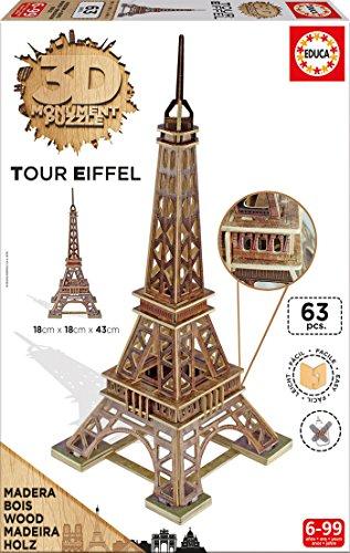 Educa Puzzle 3d Tour Eiffel Multicolore 169980 0