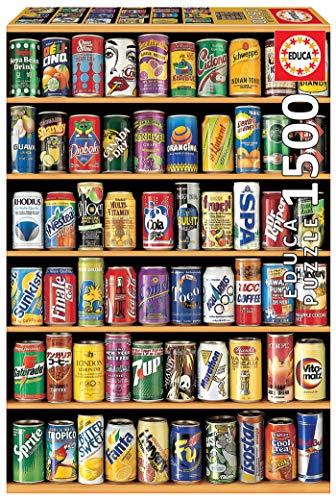 Educa Puzzles Lattine Di Soda Puzzle Per Adulti 1500 Pezzi Rif 14446 Colore Vario 0