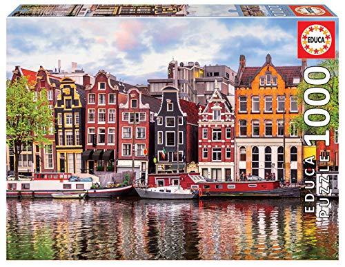Educa Puzzles Maisons Dansantes Pieces Ref 18458 Originali Casa Ballerina Amsterdam Puzzle Adulto 1000 Pezzi Rif 0