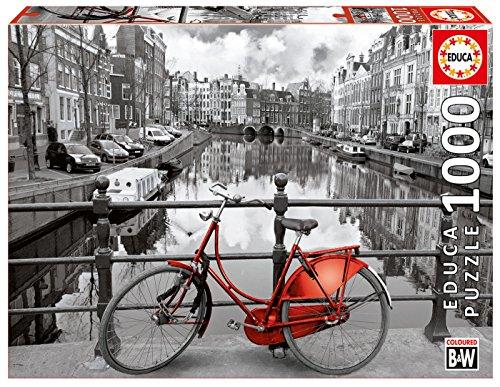 Educa Serie Coloured Bw Amsterdam Puzzle Bianco E Nero Per Adulti 1000 Pezzi Rif 14846 0