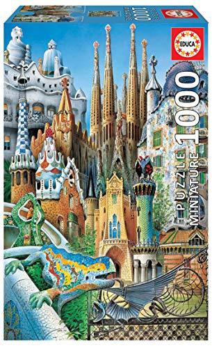 Educa Serie Miniature Collage Gaudi Adulti Il Puzzle Da 1000 Pezzi Piu Piccolo Del Mondo Rif 11874 Colore Vario 0