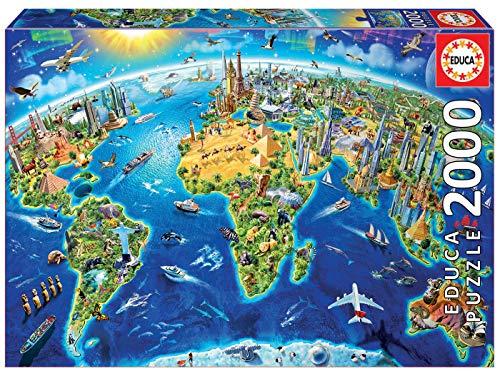 Educa Simboli Dell Mondo Puzzle 2000 Pezzi Multicolore 17129 0