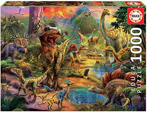 Educa Terra Di Dinosauri Puzzle Per Adulti 1000 Pezzi Rif 17655 Colore Vario 0