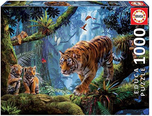 Educa Tigre Sullalbero Puzzle Per Adulti 1000 Pezzi Rif 17662 Colore Vario 0