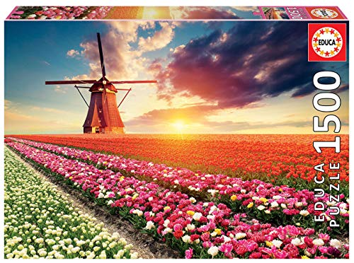 Educa Tulpen Landschaft 1500 Teile Puzzle 0
