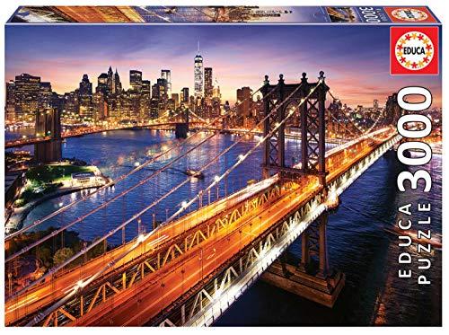 Educa Atardecer 3000 Pezzi Manhattan Al Tramonto Multicolore 18508 0