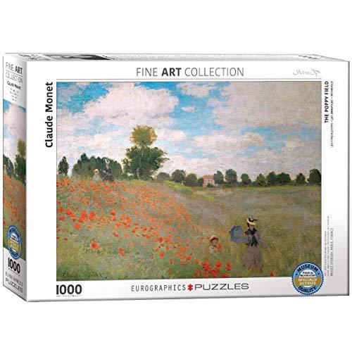 Eurographics Claude Monet Il Campo Di Papaveri Puzzle Pezzi Multicolore 0