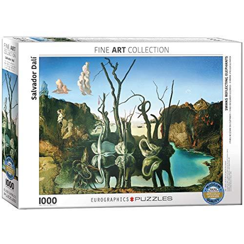 Eurographics Puzzle Di Salvador Dali Cigni Che Riflettono Elefanti Titolo In Inglese 1000 Pezzi Colore Multicolore 0