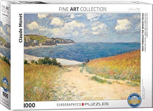 Eurographics Monet Chemin Dans Les Bles A Pourville Jigsaw Puzzle 1000 Pezzi 0