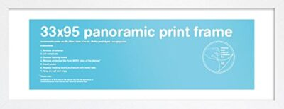 Gb Eye Ltd Eton Cornice Di Stampa Panoramica Legno Mdf Bianco Per Foto 33 X 95 Cm 0