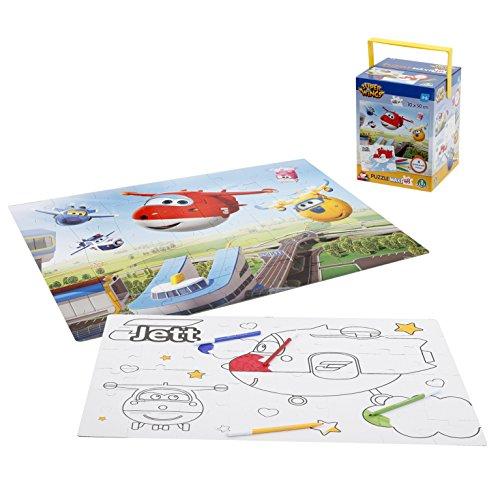 Giochi Preziosi Super Wings Puzzle Con Pennarelli 48 Pezzi 0 0