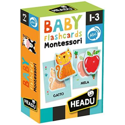 Headu Baby Flashcards Montessori Gioco Educativo Multicolore It21666 0