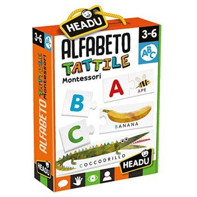 Headu Montessori Alfabeto Tattile Multicolore It20164 0