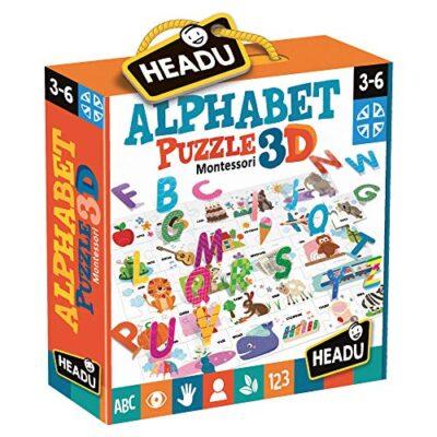 Headu Montessori Alphabet Puzzle 3d It20973 0