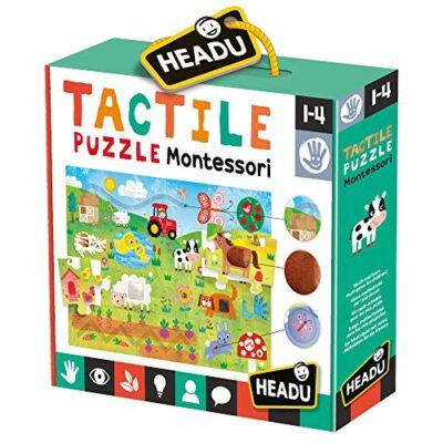 Headu Tactile Puzzle Montessori Multicolore 805959e12 0