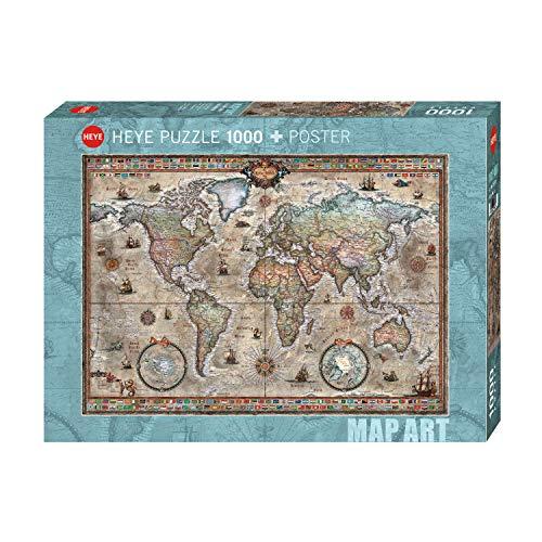 Heye Mappa Stile Retro Puzzle 1000 Pezzi Multicolore Hy29871 0