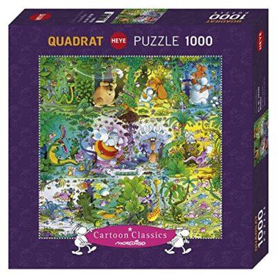 Heye Puzzle Quadrato Mordillo Wildlife 1000 Pezzi Vd 29799 0