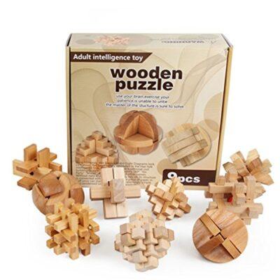 Holzsammlung Set Da 9 Rompicapo In Legno Gioco Di Cube 3d Puzzle Perfetto Regalo Di Natale Per I Tuoi Famiglia 9 0