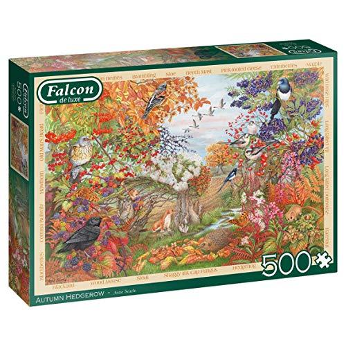 Jumbo Falcon De Luxe Autumn Hedgerow 500 Piece Jigsaw Puzzle Pezzi Multicolore J12270 0
