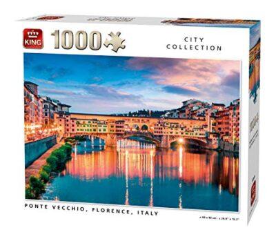 King 55849 Ponte Vecchio Firenze Italia Puzzle 1000 Pezzi A Colori 68x49 Cm 0
