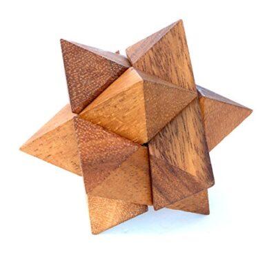 Logica Giochi Art Stella Polare Rompicapo 3d Ad Incastro In Legno Difficolta 36 Difficile Serie Leonardo Da Vinci 0